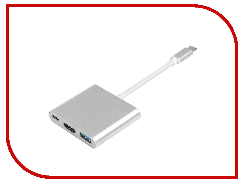Адаптер Greenconnect USB Type-C - HDMI / USB 3.0 GCR-AP24 адаптер micro usb type c ugreen