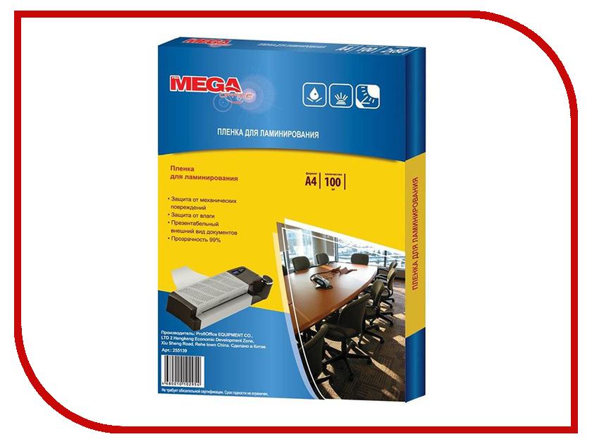 Пленка для ламинирования ProMega Office A4 150мкм 100шт 255141 пленка для ламинатора bulros a4 150мкм 100шт