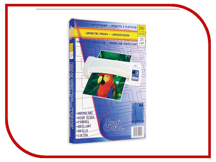 Пленка для ламинирования ProfiOffice А4 125мкм 25шт 506572