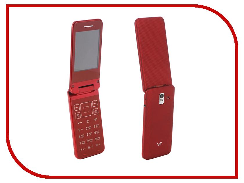 Сотовый телефон Vertex S106 Flip Red
