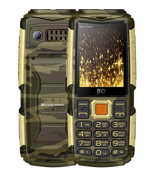 Сотовый телефон BQ BQ-2430 Tank Power Camouflage-Gold сотовый телефон bq aquaris v 2gb ram 16gb mist gold