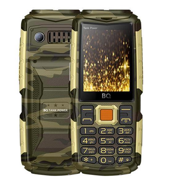 Сотовый телефон BQ BQ-2430 Tank Power Camouflage-Gold цена и фото