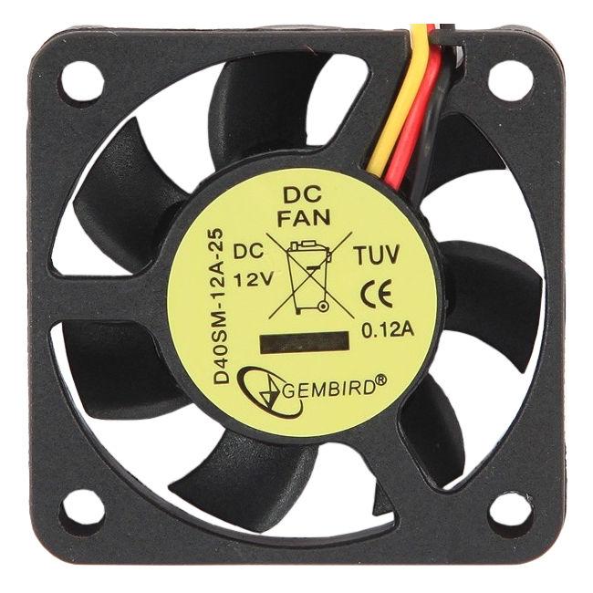 Вентилятор Gembird 40mm D40SM-12A-25 цена и фото