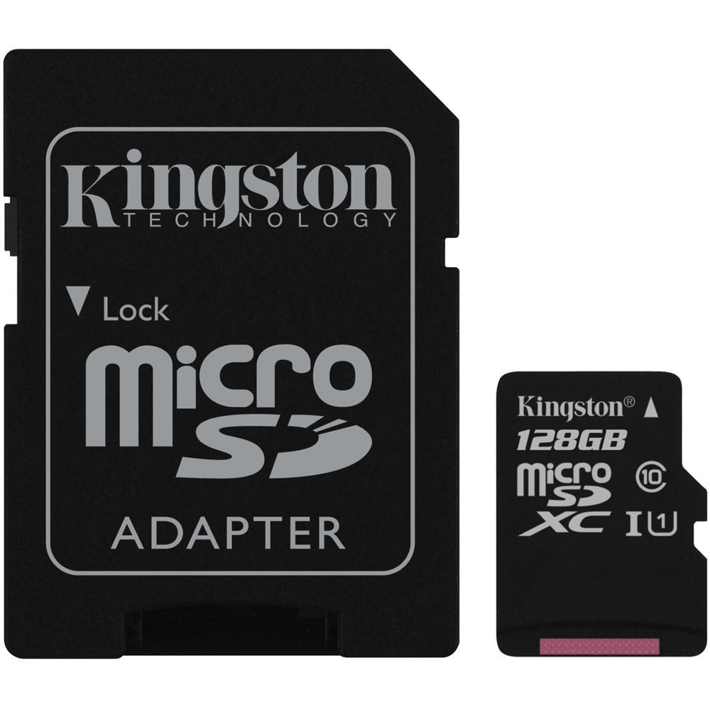 Карта памяти 128Gb - Kingston Micro Secure Digital HC Class10 UHS-I SDCS/128GB