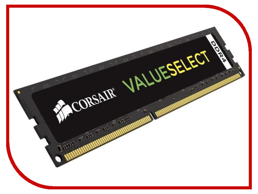 Модули памяти   Модуль памяти Corsair ValueSelect DDR4 DIMM 2666MHz PC4-21300 CL18 - 8Gb CMV8GX4M1A2666C18
