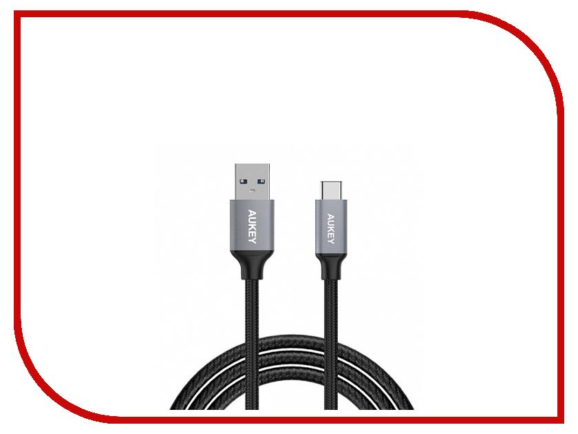 где купить Аксессуар Aukey CB-CD2 USB 3.0 USB-C - USB-A 1m Grey LLTS101712 по лучшей цене