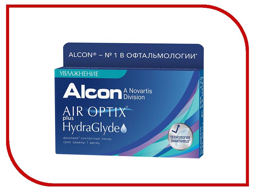 Контактные линзы Alcon Air Optix Plus HydraGlyde (6 линз / 8.6 / -3)