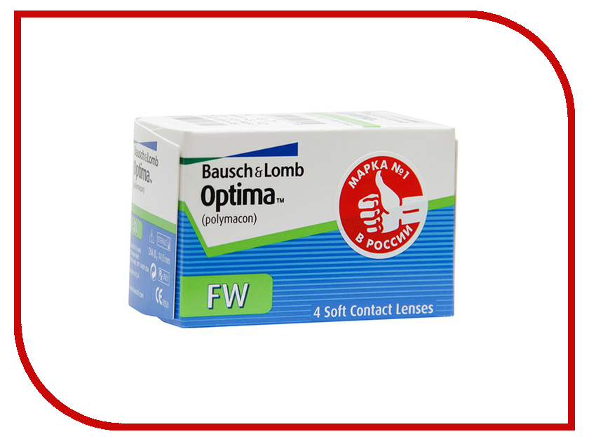Контактные линзы Bausch & Lomb Optima FW (4 линзы / 8.7 / -4.25) контактные линзы maxima 38 fw квартальные 3 5 4 шт