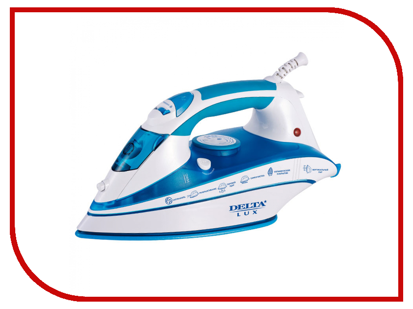 Утюг Delta Lux DL-556 White-Blue фен delta lux dl 0920 blue