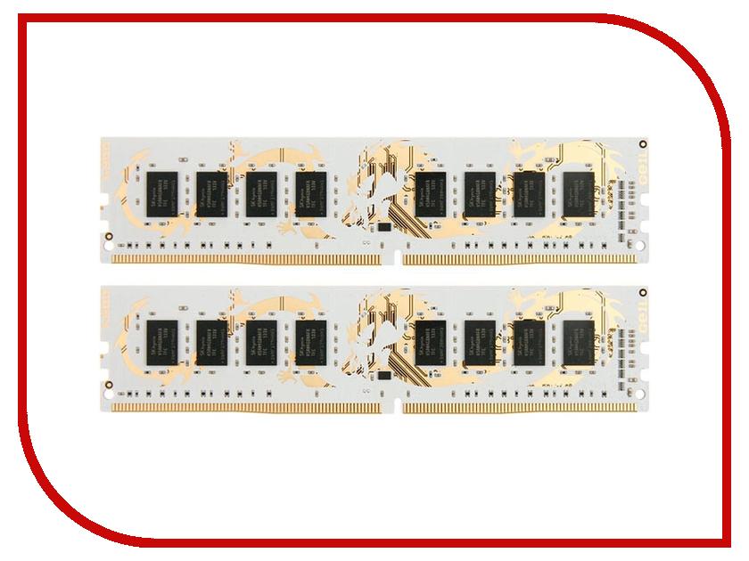 Модули памяти GWB416GB2400C16DC  Модуль памяти GeIL Dragon DDR4 DIMM 2400MHz PC4-19200 CL16 - 16Gb KIT (2x8Gb) GWB416GB2400C16DC