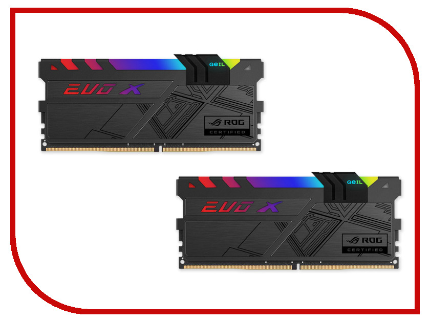 Модули памяти GREXR432GB3000C15AQC  Модуль памяти GeIL EVO X ROG DDR4 DIMM 3000MHz PC4-24000 CL15 - 32Gb KIT (2x16Gb) GREXR432GB3000C15AQC