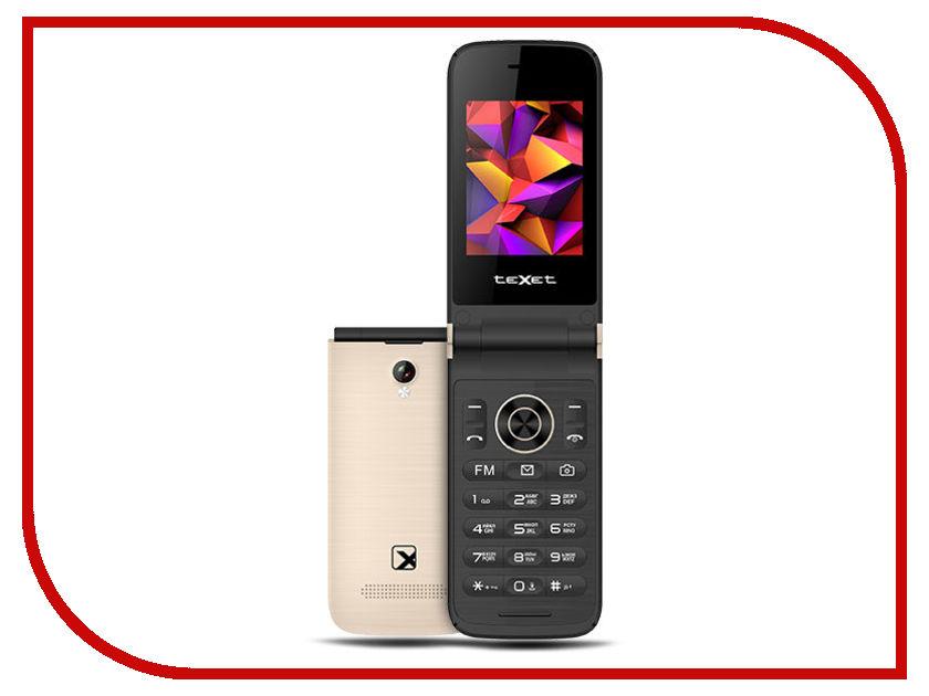 Сотовый телефон teXet TM-401 Champagne телефон texet tm 401 гранатовый 2 4 32 мб