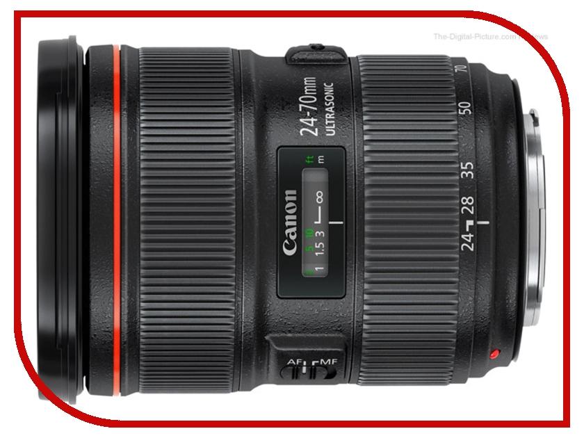 Объектив Canon EF 24-70 mm F/2.8 L II USM объектив премиум canon ef17 40 f 4 0l usm