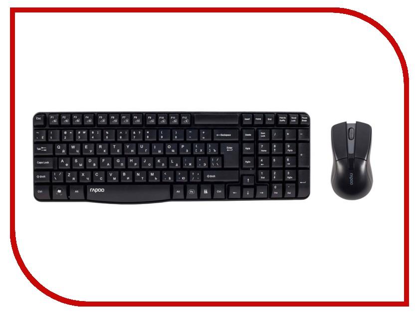 Набор Rapoo X1800 Black USB мышь rapoo n1162 white usb
