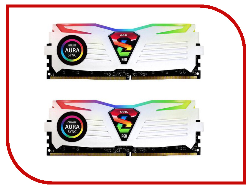 все цены на Модуль памяти GeIL Super Luce DDR4 DIMM 3200MHz PC4-25600 CL16 - 16Gb KIT (2x8Gb) GLWS416GB3200C16ADC онлайн