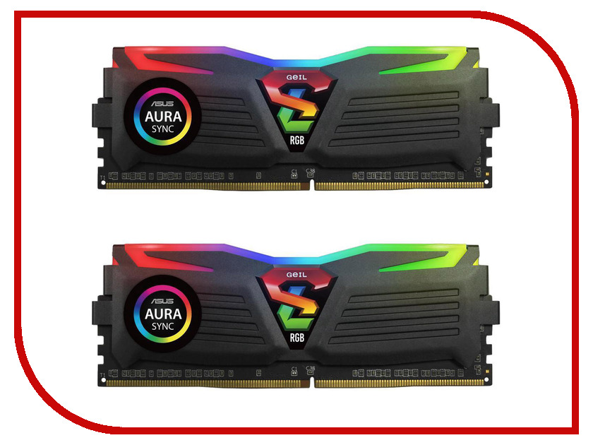 Модули памяти GLS416GB3200C16ADC  Модуль памяти GeIL Super Luce DDR4 DIMM 3200MHz PC4-25600 CL16 - 16Gb KIT (2x8Gb) GLS416GB3200C16ADC