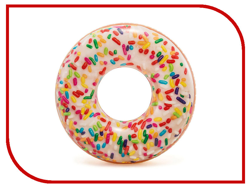 Купить Надувной круг Intex Пончик Глазурь 56263