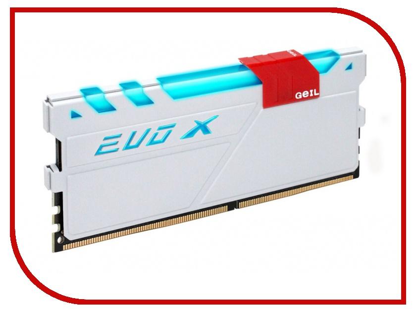 Модули памяти GEXG48GB3000C16ADC  Модуль памяти GeIL EVO X DDR4 DIMM 3000MHz PC4-24000 CL16 - 8Gb KIT (2x4Gb) GEXG48GB3000C16ADC