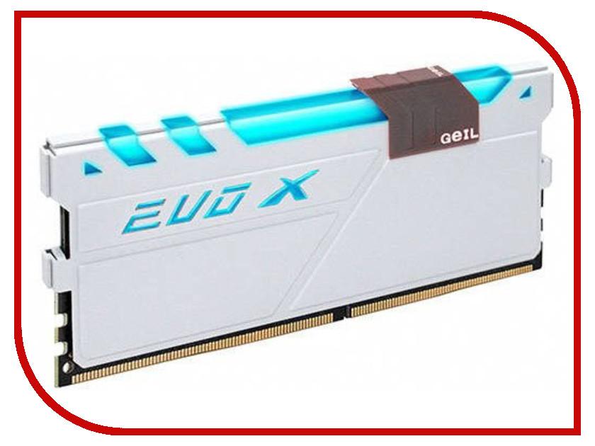 Модуль памяти GeIL EVO X DDR4 DIMM 2400MHz PC4-21300 CL16 - 8Gb GEXG48GB2400C16SC память geil evo potenza 2x4gb ddr3 2133 gpb38gb2133c10adc