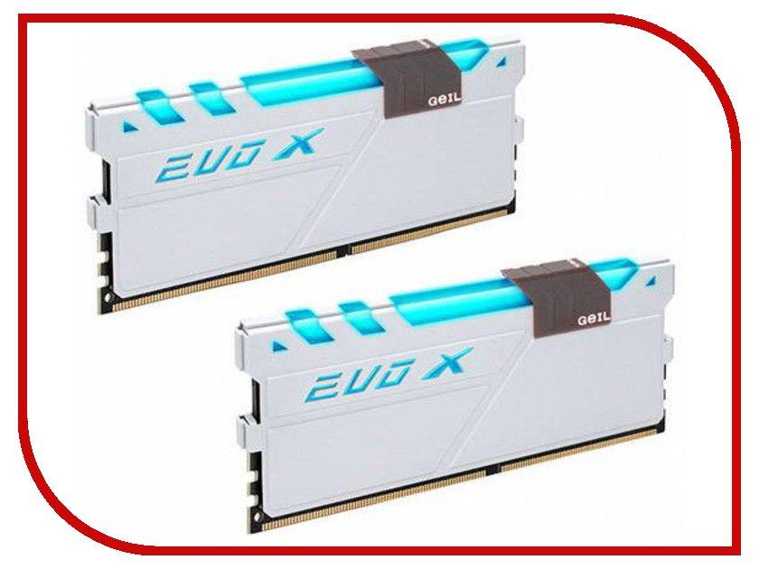 Модуль памяти GeIL EVO X DDR4 DIMM 2666MHz PC4-21300 CL16 - 16Gb KIT (2x8Gb) GEXG416GB2666C16ADC память geil evo potenza 2x4gb ddr3 2133 gpb38gb2133c10adc