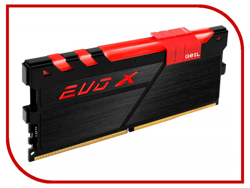 Модули памяти GEXB48GB3200C16ASC  Модуль памяти GeIL EVO X DDR4 DIMM 3200MHz PC4-25600 CL16 - 8Gb GEXB48GB3200C16ASC