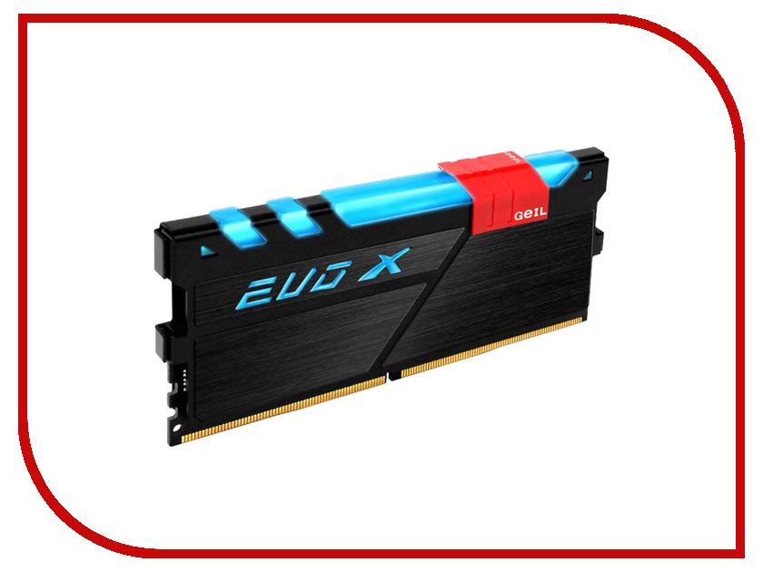 Модуль памяти GeIL EVO X DDR4 DIMM 3000MHz PC4-24000 CL16 - 8Gb GEXB48GB3000C15ASC память geil evo potenza 2x4gb ddr3 2133 gpb38gb2133c10adc