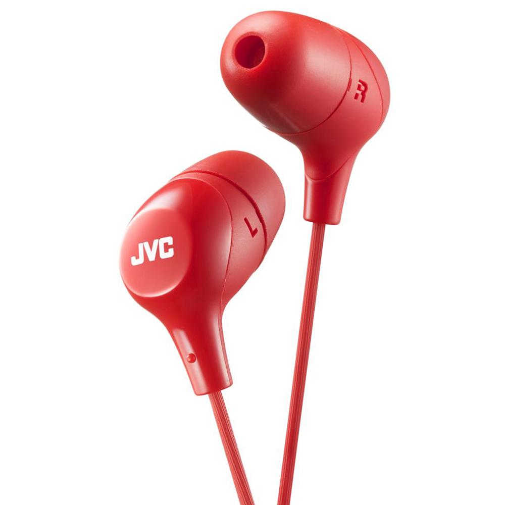 цена Наушники JVC HA-FX38-R-E Red онлайн в 2017 году