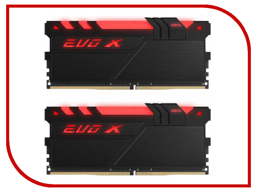 Модули памяти GEXB432GB3000C16ADC  Модуль памяти GeIL EVO X DDR4 DIMM 3000MHz PC4-24000 CL16 - 32Gb KIT (2x16Gb) GEXB432GB3000C16ADC