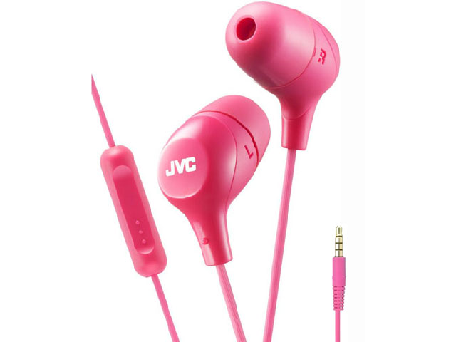 цена Наушники JVC HA-FX38M Pink онлайн в 2017 году