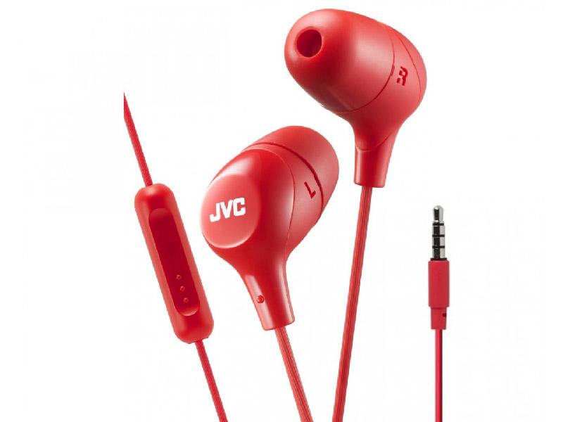 цена Наушники JVC HA-FX38M Red онлайн в 2017 году