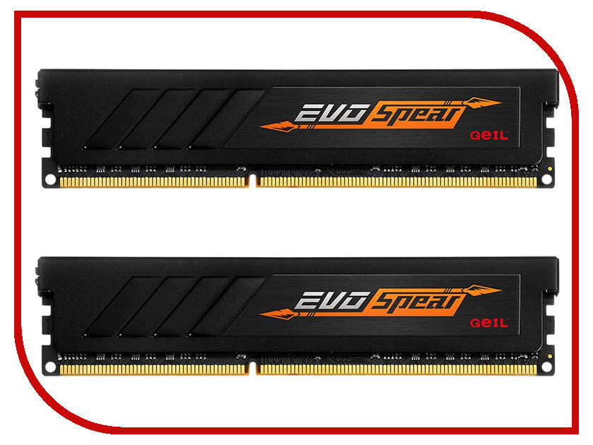 Модуль памяти GeIL EVO X DDR4 DIMM 2400MHz PC4-21300 CL16 - 8Gb GASB48GB2400C16DC память geil evo potenza 2x4gb ddr3 2133 gpb38gb2133c10adc