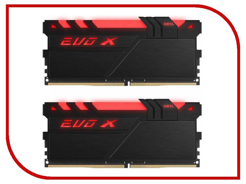 Модуль памяти GeIL EVO X DDR4 DIMM 2666MHz PC4-21300 CL16 - 16Gb KIT (2x8Gb) GAEXY416GB2666C16ADC память geil evo potenza 2x4gb ddr3 2133 gpb38gb2133c10adc