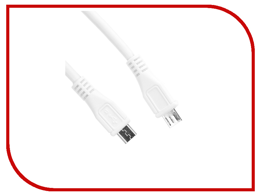 Аксессуар Greenconnect microUSB B - microUSB B 0.22mm White GCR-50602 аксессуар