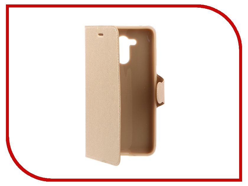 Аксессуар Чехол-книжка для Huawei Honor 6C Pro Red Line Book Type Gold УТ000013160