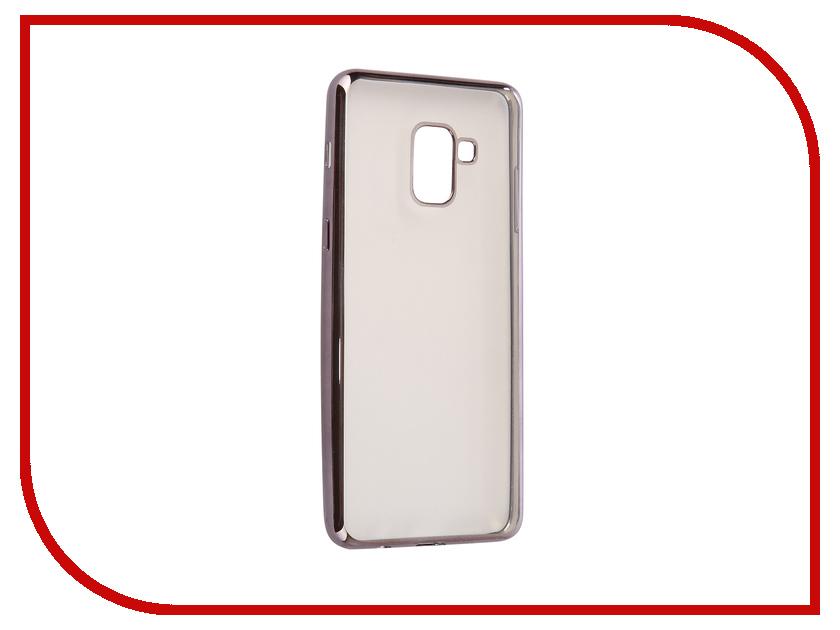 Аксессуар Чехол Samsung Galaxy A8 Plus 2018 A730 iBox Blaze Black frame клип кейс ibox fresh для samsung galaxy s5 mini черный