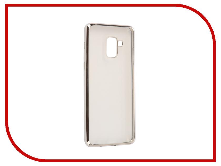 Аксессуар Чехол Samsung Galaxy A8 Plus 2018 A730 iBox Blaze Silver frame клип кейс ibox fresh для samsung galaxy s5 mini черный