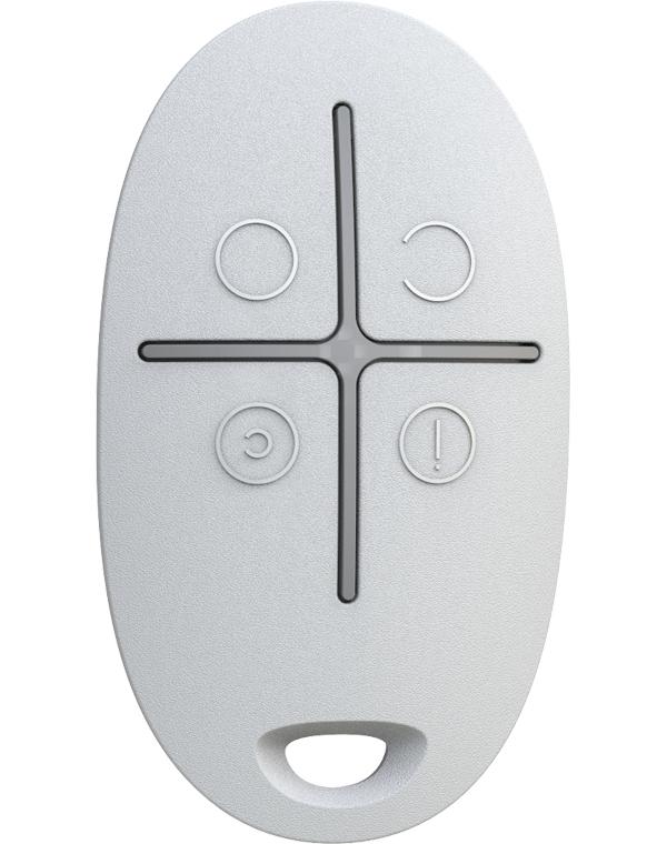 Брелок для управления охранной системой Ajax SpaceControl White 6267.04.WH1