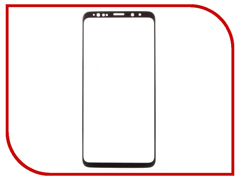 Аксессуар Защитное стекло для Samsung Galaxy S9 Full Screen 3D Red Line Tempered Glass Black УТ000014147