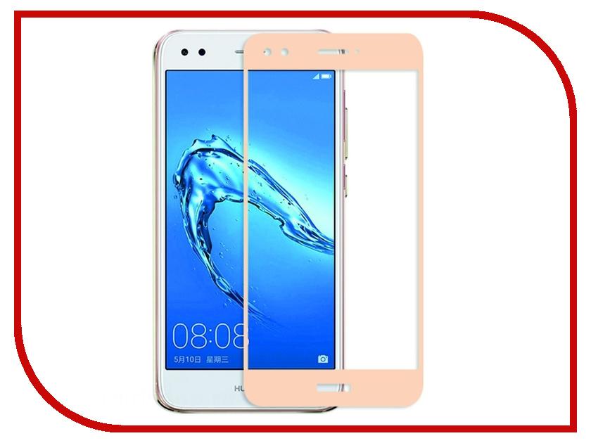 Аксессуар Защитное стекло Huawei Nova Lite 2017 Red Line Full Screen Tempered Glass Gold смартфоны huawei nova lite gold