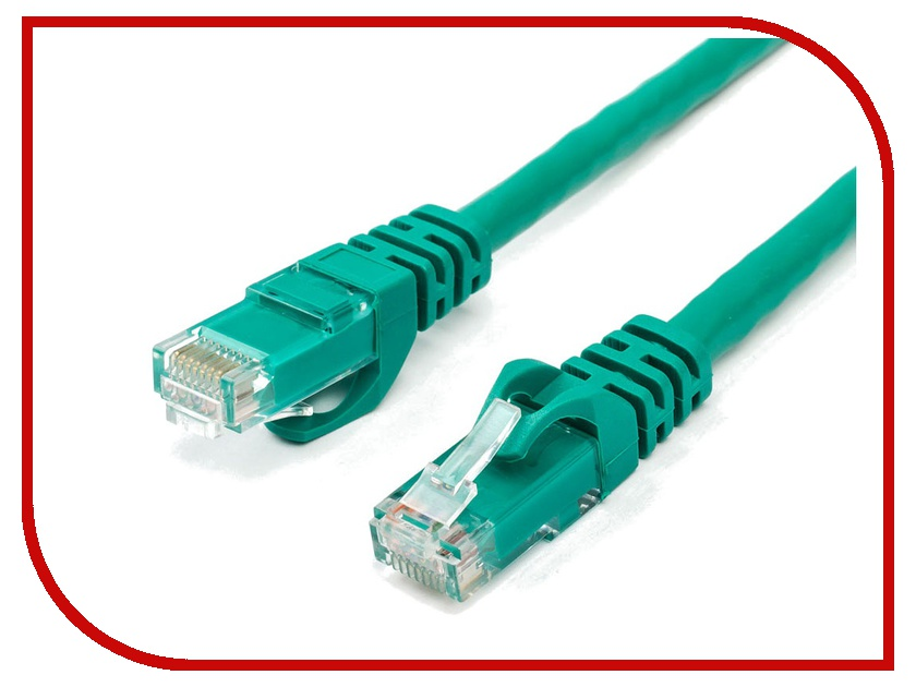Сетевой кабель ATcom UTP cat.6 RJ45 1m Green AT9218 сетевой кабель atcom rj45 cat 5e utp 1m blue ат9160