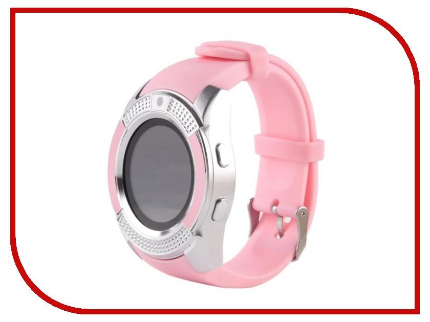 Умные часы Smart Watch V8 Pink smart baby watch g72 умные детские часы с gps оранжевые