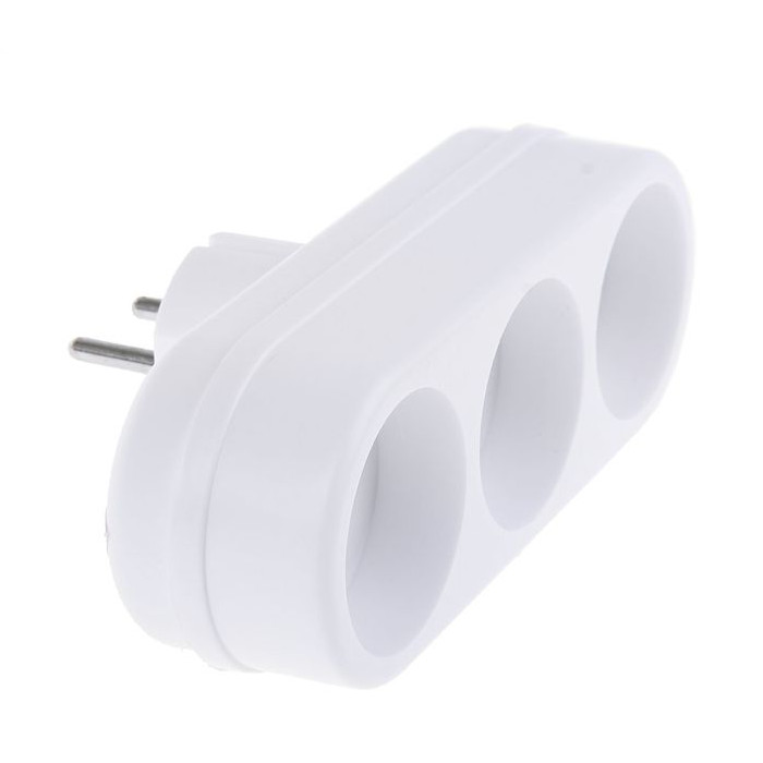 Тройник Toker 3L 6A White