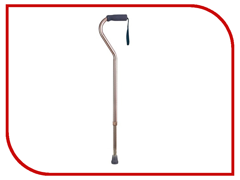 Трость Тривес с мягкой ручкой и ремешком Bronze CA834L4