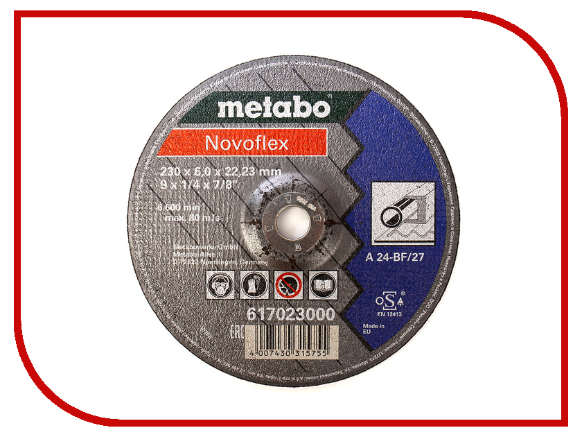Диск Metabo Novoflex 230x6.0 A30 Обдирочный для стали 617023000