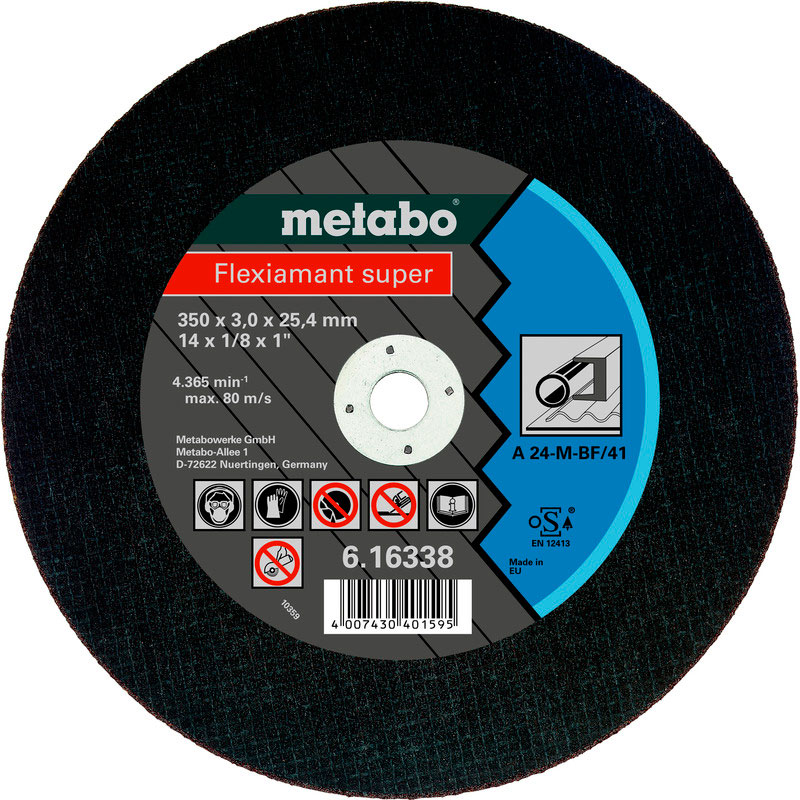 Фото - Диск Metabo Flexiamant Super 350x3.0 A24M Отрезной для стали 616338000 диск отрезной 125x1 6x22 23 3m