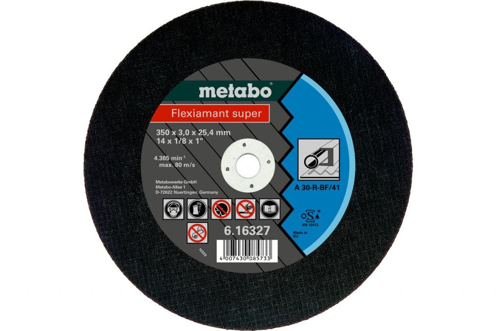 Фото - Диск Metabo Flexiamant Super 350x3.0 A36S Отрезной для стали 616339000 диск отрезной 125x1 6x22 23 3m
