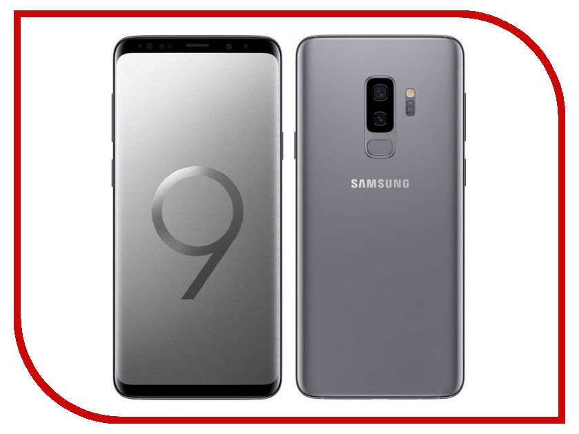 Сотовый телефон Samsung SM-G965F Galaxy S9 Plus 64Gb Titanium сотовый телефон samsung sm g955fd galaxy s8 plus 64gb black