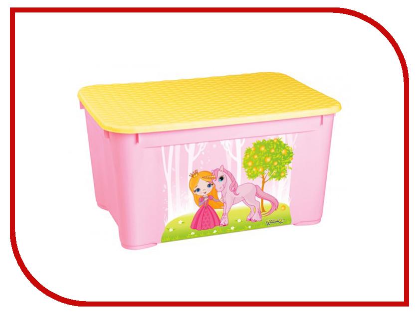 Ящик для игрушек Бытпласт 13776 Pink бытпласт горка для купания бытпласт голубая