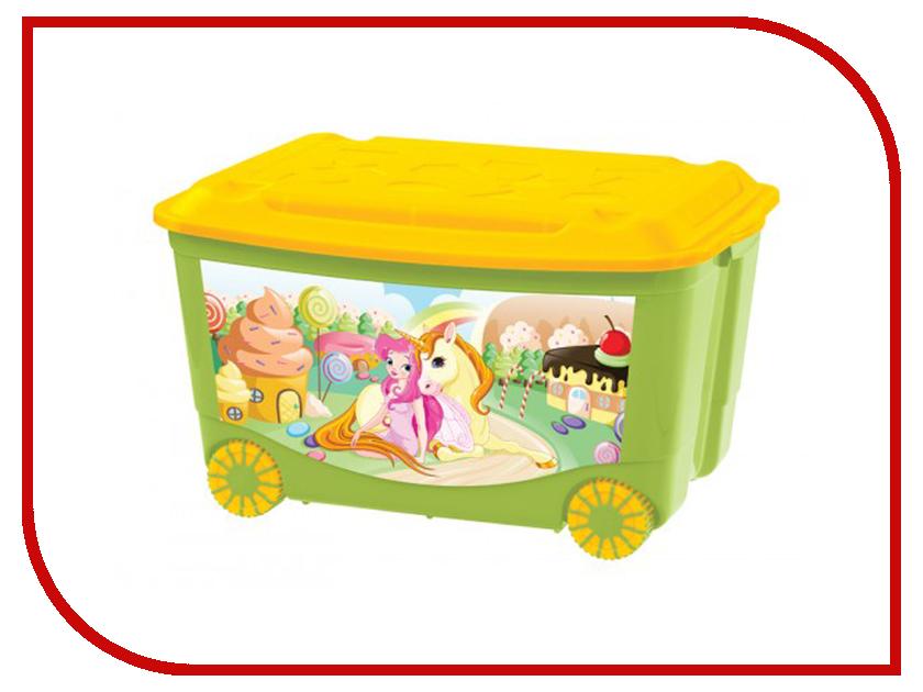 Ящик для игрушек Бытпласт С аппликацией Green 431380909