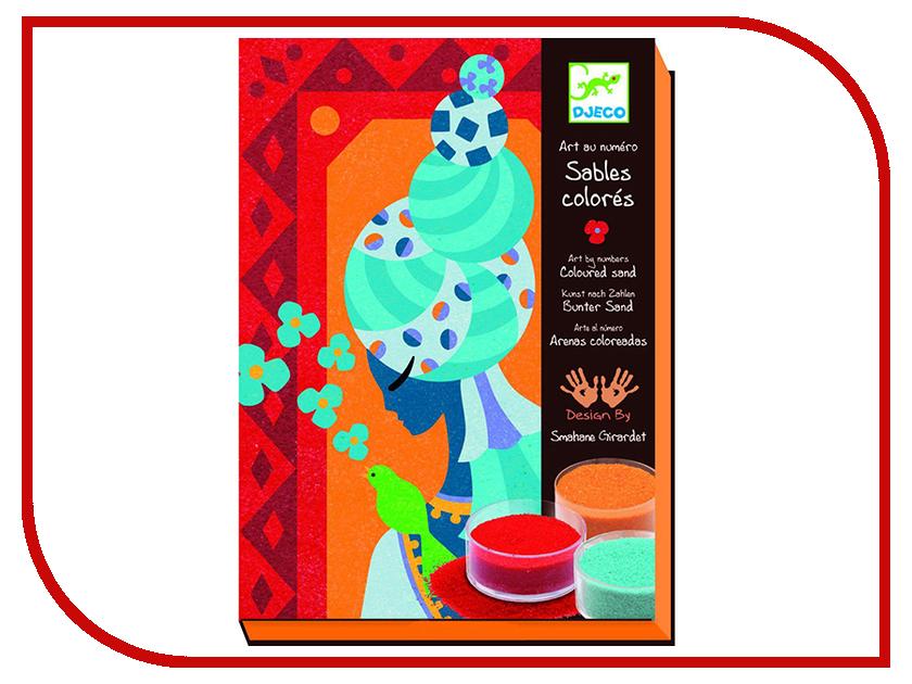 Набор Djeco Песочные картинки Голубые принцессы 08637 наборы для рисования djeco песочные картинки тибетские мандалы